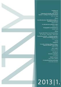 A Neveléstudomány első lapszámának címlapja